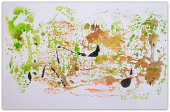 2019/ title:..in harmony...(abstract, watercolour and ink) (Nadia Minic) Tags: abstract symbolic green watercolour ink spring asianart artistnadiaminic luxembourg inexplore