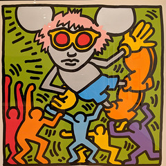 """Andy Mouse"" (1986), Keith Haring (Joey Hinton) Tags: phoenix art museum pixel2 google android smartphone cellphone cameraphone phone arizona"