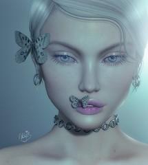 KissMeButterfly (✰✰Nubyia Photography✰✰) Tags: nubyia butterflies close portrait secondlife jewelry kunst