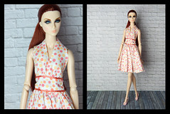 Tag game: Barbie meets Fashion Royalty (Levitation_inc.) Tags: fashion doll dolls barbie royalty lilith poetic beauty amber photography tag game meets dot dress