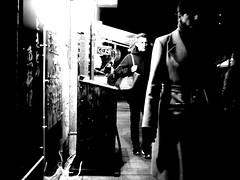 Night scene! (takana1964) Tags: streetphotography snap streetsnap street snapshot streetshot citysnap citystreet city cityphotography blackandwhite bw bnw monochrome kyotocity japan olympus