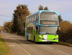 Scarce on the 92 at Stutton (Chris Baines) Tags: ipswich buses scania east lancs omnidekka pj54 yzv flet number 62 92 service manningtree