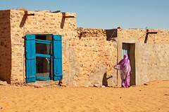 Shots of colour (s_andreja) Tags: mauritania chinguetti desert house door woman dress