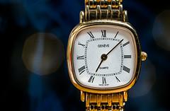 Watch timepiece (Lorrainemorris) Tags: time 90mm sony7rm2 sony closeup old swissmade geneve smoke blue bokeh hmm marcomonday timepiece watch 9kgold gold macromondays