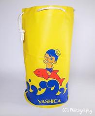 Yashica Promotional Beach Bag - 1966 (http://www.yashicasailorboy.com) Tags: yashica beach bag dolphin sailor boy 1960s electro35 japan