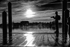 Misty Morning (FotographybyFrank) Tags: monochrome monday fotographybyfrank bw pier water nikon d500 fog annapolis camera spacreek