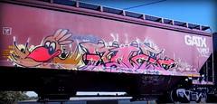 (timetomakethepasta) Tags: freight train graffiti art gatx grainer hopper