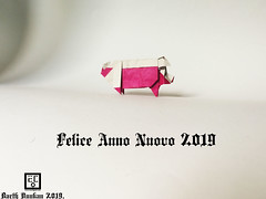 Felice Anno Nuovo 2019 (Magic Fingaz) Tags: cochon pig origamipig porc maiale 猪 svinja cerdo सूअर babi 豚 beraz varken porco свинья свиња หมู domuz schweinbonneannée2019paperfoldinghappynewyear2019craftmfpppliagedepapier