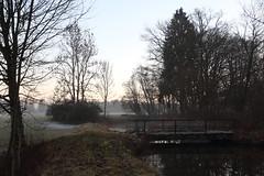 Winter canal (IV) (dididumm) Tags: winter cold sunset evening dusk reflection water tree trees bridge river canal channel kanal fluss brücke bäume baum wasser spiegelung dämmerung abenddämmerung abend sonnenuntergang kälte