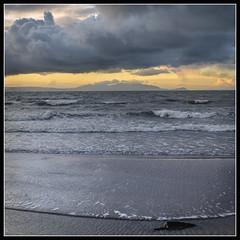 Cloudy sunset & sea (B Ryder) Tags: nikon d500 18200mm clyde ayr coast scotland sea clouds sky waves