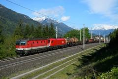 1144 218 + 1116 055, G 45801, Mühldorf-Möllbrücke (M. Kolenig) Tags: 1144 1116 güterzug tauernbahn baum