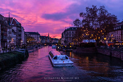 Strasbourg at Sunset I ❄🌄 (Alexandre & Chloé Bès - Waitandshoot Photography) Tags: strasbourg christmas 2018 new year sapin tree kammerzell le gruber cathedrale notre dame sunset sun colours canon winter alsace france europe street night