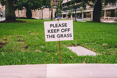 Please Keep Off the Grass (Leighton Wallis) Tags: sony alpha a7r mirrorless ilce7r 55mm f18 emount 1635mm f40 brisbane qld queensland australia city grass lawn sign