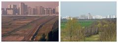 Berlin Rudow Mauerverlauf 1983 und 2017 (rieblinga) Tags: berlin mauer rudow 1983 2017 verlauf schönefeld wasmannsdorf collage
