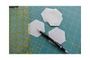 The boring part of sewing with hexagons. (balu51) Tags: patchwork sewing quilting wip flowerquilt hexagons marking seamallowance ruler pencil februar 2019 copyrightbybalu51