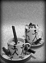 2019 Crazy Tuesday: Black and White (dominotic) Tags: 2019 crazytuesday blackandwhite bwcoffee food walkingmancoffeemugandsaucer biscuit viennacoffee yᑌᗰᗰy coffeeobsession whippedcream sydney australia