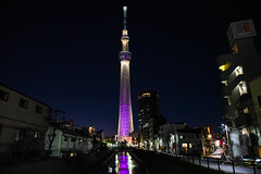 Tokyo Skytree (kha.p.nguyen1007) Tags: night shot tokyo japan nippon skytree nighttime cityscape bridge jikken infrastructure structure tower radio reflection skyscraper tall high illumination realism realistic neighborhood water observation neofuturistic