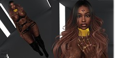 black and gold (srtapleasure) Tags: samnails necklace lic gold prada moccinobeaute gloss pretalinda speakeasy zfg commotion euphoric