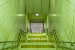 underground station (Hideki Iba) Tags: nikon d850 58mm railway subway underground jr osakatenmangu osaka japan step