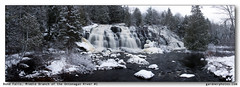 Bond Falls, Middle Branch of the Ontonagan River #1 (gardnerphotos.com) Tags: waterfall white winter river ontonaganriver michigan up upperpeninsula falls gardnerphotoscom christmas outside water nature trees landscape panorama cold
