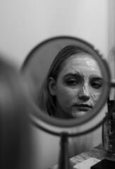 jul4 (gracehogann) Tags: girl lipstick face mask facemask tub mirror bath