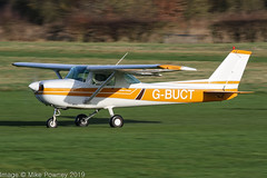 G-BUCT - 1973 build Cessna 150L, rolling for departure on Runway 26R at Barton (egcc) Tags: 15075326 150l ant airnavigationtrading barton ce150 cessna cessna150 cityairport egcb gbuct lightroom manchester n11320