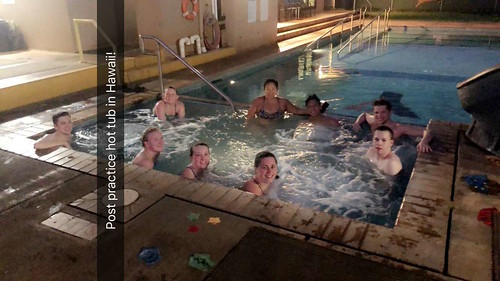 Post-practice hot tub in Hawaii