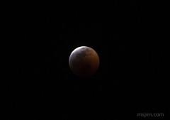 Nearly at Totality, Lunar Eclipse (Ms. Jen) Tags: 2019 300mmlens california d850 fullmoon huntingtonbeach january2019 january20th lunareclipse moon nikonafs300mmf4epfedvrlens nikond850 photobyjeniferhanen astronomy astrophotography earthsshadow eclipse fuzzy humid lightclouds msjencom