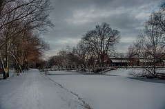 Winter at the CrossBridge (kendoman26) Tags: hdr nikhdrefexpro2 winter snow morrisillinois imcanal iandmcanal imcanaliandmcanal sonyalpha sonya6000 sonyicle6000 sonyphotographing sonypz1850 selp1650