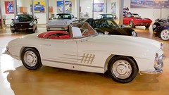 Mercedes Benz 300SL roadster. Ivory over red. DSC_0743 (wbaiv) Tags: bruce canepa service restoration interesting high performance car automobile motor vehicle sports racing showroom museum walkway above bays scotts valley california open 930 600 five days week classic cars driven daily mercedes benz 300sl roadster ivory red interior