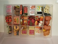 #supermarket inventory photo 24JAN19 #miniaturemeats #kitchenlittles #Barbiefood #Rement #miniaturefood #onesixthscale (wpnschick) Tags: supermarket onesixthscale miniaturemeats kitchenlittles barbiefood rement miniaturefood vintagebarbiefood