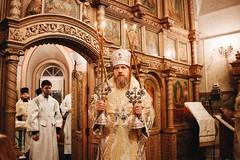Епископ Домодедовский Иоанн возглавил Всенощное бдение в храме Казанской иконы Божией Матери в Сосенках (Новоспасскиймонастырь) Tags: