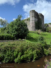 Brecon castle (ExeDave) Tags: p1080410 brecon castle powys mid wales gb uk town watercourse building architecture landscape norman stone castell aberhonddu hotel gradei listed august 2017