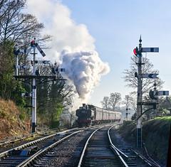 7714 approaches Bewdley Signal Box, Severn Valley Railway, UK (dorneyphoto) Tags: elements severnvalleyrailway 7714 bewdley