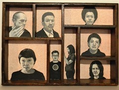 Eight People You Didn't Know Existed (LenCowgill) Tags: len cowgill art drawing found objects