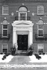 University Apartments (Bill Smith1) Tags: believeinfilm billsmithsphotography canonnewf1 fdn50f14lens hc110b heyfsc kodaktrix4001600 toronto