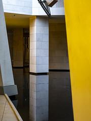 Paris 2019: Pillar (mdiepraam) Tags: paris 2019 fondationlouisvuitton architecture building grotto pond reflection pillar