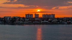 Sunset Boca Ciega Bay (vwalters10) Tags: sunset bay water cloud buildings florida