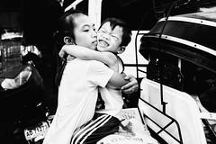 My Sister Is My Best Friend (Meljoe San Diego) Tags: meljoesandiego fuji fujifilm x100f streetphotography children hug candid monochrome philippines