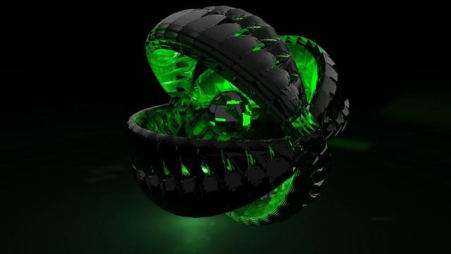 Обои форма, зеленый, тень, темный картинки на рабочий стол, фото скачать бесплатно
