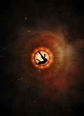 To transport myself to infinity (Fan.D & Dav.C Photgraphy) Tags: light eclipse sunbeam bright galaxy fractal sun color background beautiful beam sonora moon colorful red abstract silhouette night dark lightning alone space