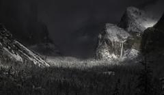 A Moment Of Light (WJMcIntosh) Tags: yosemite yosemitenationalpark winter snow bridalveil bridalveilfall tunnelview