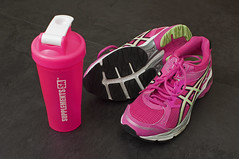 Running shoes (Mary Berkhout) Tags: maryberkhout asics sportshoe running sneakers footwear fashion indoors gelpulse7 bidon