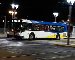 #Trimet Bus Leaving For Tillikum Crossing On A Friday Night (AvgeekJoe) Tags: d5300 dslr nikon nikond5300 tamron18400mm tamron18400mmf3563diiivchld trimet bus night nightphoto nightphotograph nightphotography nightshot panning publictransit publictransportation
