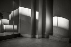 MFA-4:45 (frntprchprss) Tags: museum museumoffinearts mfa boston light closing abstract interior walls architecture jamesgehrt blackandwhite