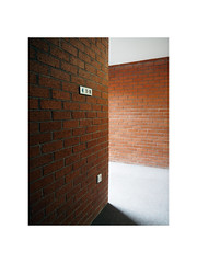 landing (chrisinplymouth) Tags: wall brick interior corner plymouth devon england city uk cw69x landing carpet diagx diagonal perspective