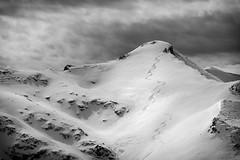 Trail (vdaskalov) Tags: trail snowboard mountain peak snow alps nature sky white blackandwhite les2alpes alpes
