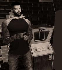 Retro Gaming (D3vilstrike) Tags: secondlife sl second game retro retrogame belleza bento catwa pong saturdaynight saturday