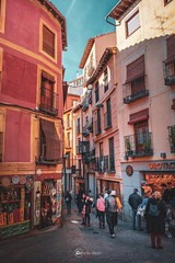 Pink (Borislav Aleksiev - nature) Tags: fujifilm xt3 spain toledo travel pink light blue dark people building street old town
