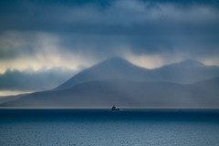 Applecross squall (jasonhudson2) Tags: seascape sea blue storm clouds rain boat trawler highlands scotland sony